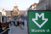 Wenceslas square — Stock Photo