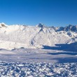 Royalty-Free Stock Photo: Panoramic view on Alps winter mountains