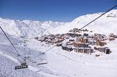 Alps winter mountain resort — Stock Photo
