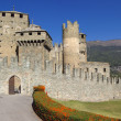 Medieval castle in Italy - Stock Photo
