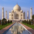 Taj Mahal mausoleum in Agra - Stock Photo