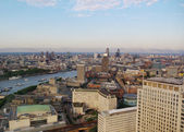 London city in dusk bird-eye view — Stock Photo