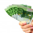 Euro banknotes in hand — Stock Photo #2595413