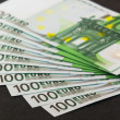 Pile of 100 euro banknotes — Stock Photo
