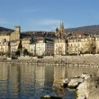 Neuchatel town quay — Stock Photo #2617468