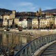 Neuchatel town quay — Stock Photo