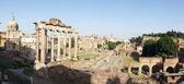Roman forum panoramic — Stock Photo