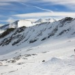 Alps winter mountain resort - Stock Photo
