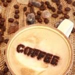 Delicious coffee with milk — Stock Photo