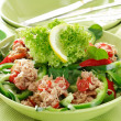 Salad with tunny — Stock Photo