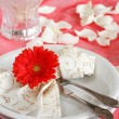 Romantic table setting - Foto Stock