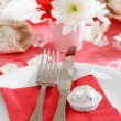Romantic table setting - Stok fotoğraf