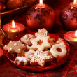 Delicious Christmas cookies — Stock Photo