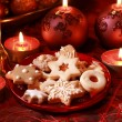Delicious Christmas cookies - Stock Photo