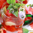 Refreshing summer drink - 图库照片