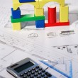 Planning new family house — Stockfoto