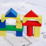 Yeni müstakil ev planlama — Stok fotoğraf