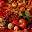 Still life and harvest or table decoration for Thanksgiving — Stock Photo #2229107