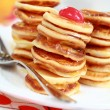 Royalty-Free Stock Photo: Sweet mini pancakes with pancake maker