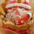 Gingerbread Santa Claus for Christmas — Stock Photo