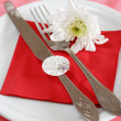 Romantic table setting — Stockfoto