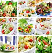Hälsosam mat collage — Stockfoto