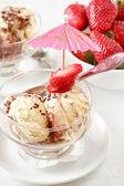Straciatella ice cream — Stock Photo
