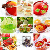 Collage de té — Foto de Stock