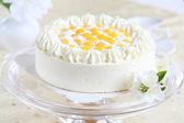 Yogurt cake with oranges — Stock Photo