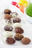 Easter chocolate egg — Stock Photo