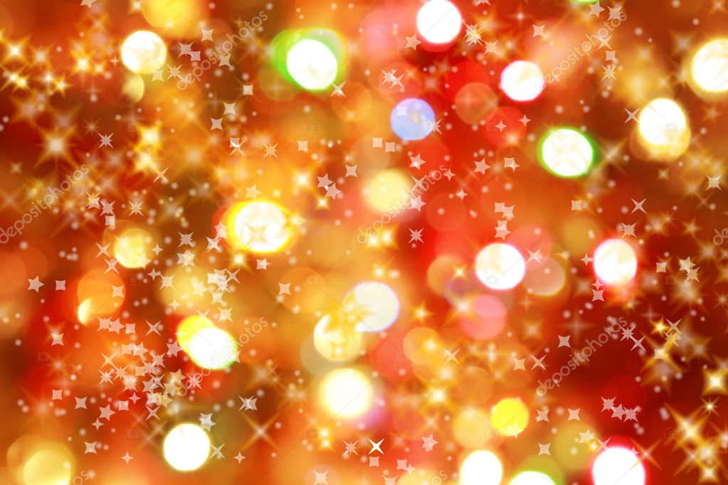 Abstract background of candlelights with stars for Christmas  Foto Stock #2229256