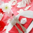 Romantic table setting - Stock Photo