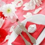 Romantic table setting — Stock Photo