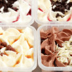 Different sorts of ice cream — Stock Photo