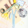 Sewing items — 图库照片