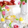 Easter table setting — Stockfoto