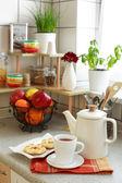 In de keuken — Stockfoto