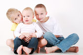 Adorable siblings have a fun — Stock Photo