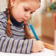 Cute little girl painting — Stock Photo #2274509