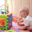 Baby playing — Stock Photo