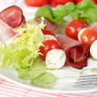 Tomatoes and mozzarella - Stock Photo