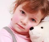 Teddy ile çocuk — Stok fotoğraf