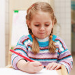 Cute little girl painting — Stock Photo #2284725