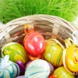 Stock Photo: Painted Easter eggs