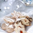Christmas cake and cookies — Stok fotoğraf