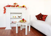 Home interior in white — Stok fotoğraf
