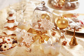 Christmas table — Stockfoto
