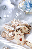 Christmas cake and cookies — Stock fotografie