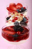 Healthy yogurts — Stock Photo