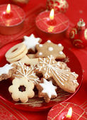 Delicious Christmas cookies — Stock Photo